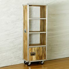 Roadie Chic Salvaged Wood Tall Bookcase (with Door)
