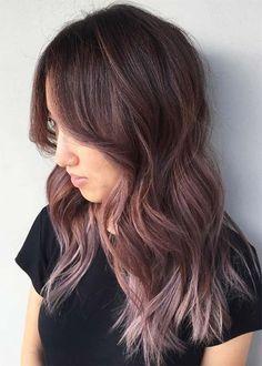 Chocolate Mauve Hair Color Ideas