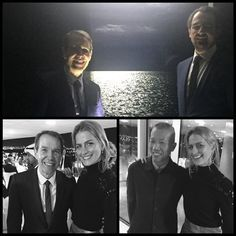 """Nikolaos with the one & only Jeff Koons infront of #H2Orizons. Unbelievably grateful to have heard him speak at #NYTAFT. This was followed by dinner seated next to the """"explosive"""" Cai Guo-Qiang. Insights to living legends. #artisticminds #learnsomethingneweveryday @skylightchaser"""