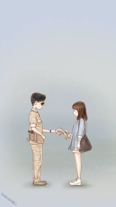 Descendants of the sun--Song joong ki--Song hye kyo--fanart Cute Couple Art, Anime Love Couple, Couple Cartoon, Cute Anime Couples, Descendants Of The Sun Wallpaper, Chibi, Cover Wattpad, Descendents Of The Sun, Kdrama