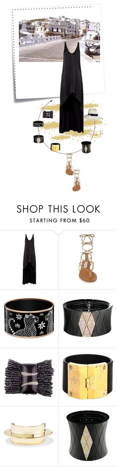 """""""Paros 3"""" by oxana-ferrari ❤ liked on Polyvore featuring Post-It, Narciso Rodriguez, Steve Madden, Roberto Demeglio, Parts of Four and Lisa Eisner"""