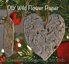 Make your own paper with wildflower seeds to give as a gift that can be planted in the spring. Creative Connections for Kids