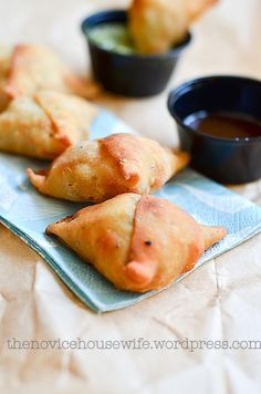 Homemade Chicken Samosas.....for when we're feeling overachieving in the kitchen.