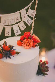 wedding cake topper, photo by Brian Evans Photography http://ruffledblog.com/free-spirited-palm-springs-wedding #weddingcake #caketopper