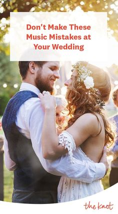 The music is definitely one aspect of your day that you don't want to mess up—and we're here to help. Wedding Music, Wedding Fun, Wedding Ideas, Marry You, Special Day, My Music, Chocolate Cake, Mistakes, Real Weddings