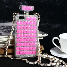 Luxury Crystal Perfume Bottles Case For Samsung and iPhone