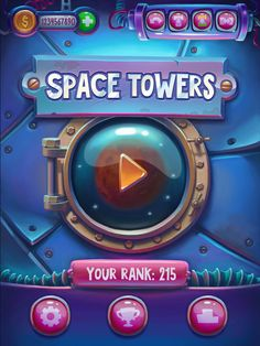 UI that I did in 2013 for unreleased game. Here's the article about this project http://www.designideas.pics/space-towers-by-karine-khoroshailo/