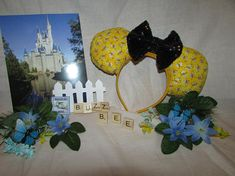 Your place to buy and sell all things handmade Mouse Ears Headband, Ear Headbands, Mickey Mouse Ears, Disney Ears, Winnie The Pooh Ears, Child Please, Disney Merchandise, Colorful Flowers, Special Gifts