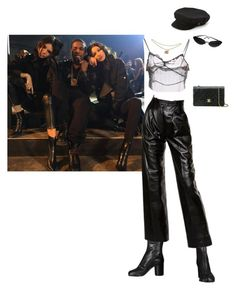 """""""the MATRIX"""" by skylierbritton ❤ liked on Polyvore featuring Maison Margiela, Miu Miu, Yves Saint Laurent, Chanel and Brixton"""