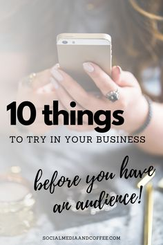 Putting yourself out there in business can be intimidating! Here are 10 things to try out before you have an audience. Social media marketing | online business | business tips | marketing ideas | social media tips | Facebook marketing | Instagram marketing | Twitter | small business marketing | entrepreneur | social media marketing | blog | blogging | #onlinebusiness #socialmedia #smm #markeitng #Facebook #Instagram #Twitter #entrepreneur #blog #blogging #solopreneur #smallbusiness #tips Small Business Marketing, Marketing Ideas, Online Business, Social Media Quotes, Social Media Tips, Facebook Marketing, Social Media Marketing, Coffee Blog, Pure Romance