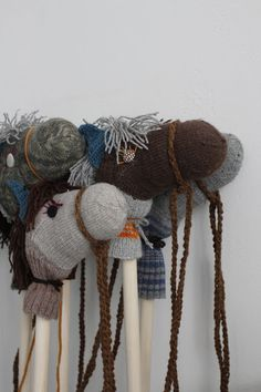 Homemade sock hobby horses