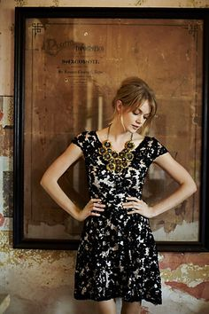 Elegant and fun! Jardim Lace Dress #anthropologie