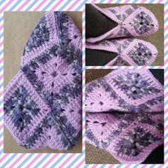 Crochet slippers - Pantufas de crochê. Pattern in portuguese found on / Gráfico em português encontrado em: http://caixinhasdeart.blogspot.com.br/2012/07/pantufas-de-croche.html.