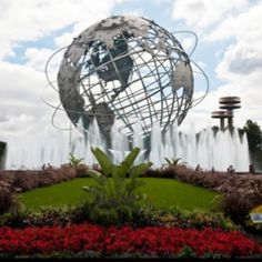 The Unisphere, symbol of the 1964 World's Fair, still stand on the site, in Queens. Wonderful memories of going to the World's Fair with my family. Astoria Queens, I Love Ny, Roadside Attractions, City That Never Sleeps, World's Fair, How To Speak Spanish, Heaven On Earth, Best Cities, Wonders Of The World