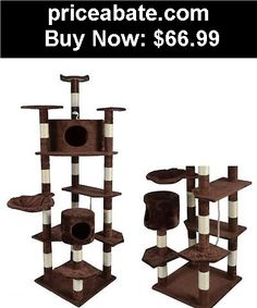 """Animals-Cats: New Brown 80"""" Cat Tree Condo Furniture Scratching Post Pet Cat Kitten House 9080 - BUY IT NOW ONLY $66.99"""