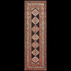 Antique Persian Tribal - Kurdish - 18498   Persian Tribal 3'5 x 10'8   Brown, Origin Persia, Circa 1930