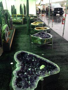 Amethyst table bases!  So cool!  #lvcr8 #amethyst #amethystdecor  www.lvcr8.com