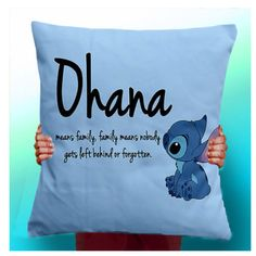 Cute Stich pillow, Ohana means family, family means nobody gets left behind or forgotten.