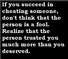 trusting you more than you deserve