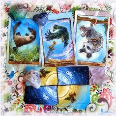 Cards from the Animism Tarot / Photo © www.VioletAura.com