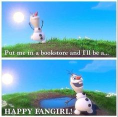 Put me in a bookstore and I'll be a happy fangirl!