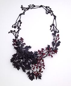Neckpiece inspired by natural form; laser cut jewelry; contemporary jewellery; statement necklace // Helen Shirk