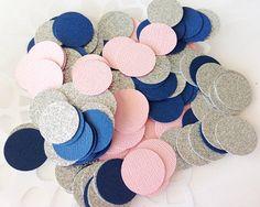 150 Light Pink / Navy Blue / Silver Glitter by tenderlovecardstock