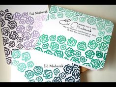 Ombre Stamping a Clean and Simple Eid Card for the Altenew Video Challen...