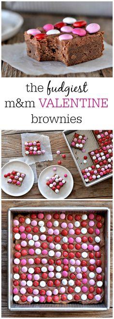 m&m Valentine Brownies   mountainmamacooks.com