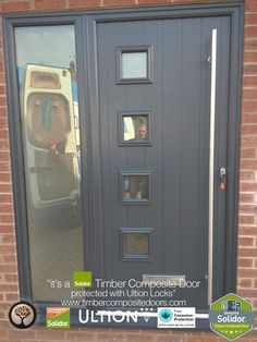 Anthracite Grey Milano with Side Panel Solidor Timber Composite Door