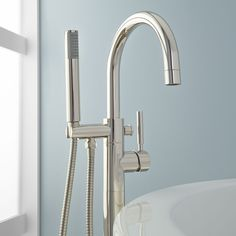 Simoni Freestanding Tub Faucet and Hand Shower