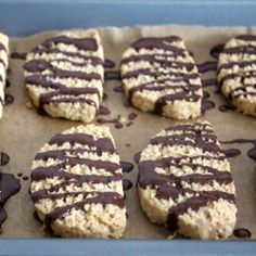 Magical oat shortbread cookies with a dark chocolate drizzle.
