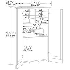 craft armoire pull out table plan 2