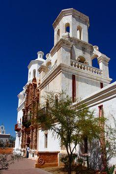 San Xavier Mission near the old pueblo (Tucson)...