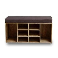 Shoe Storage Bench - Grey