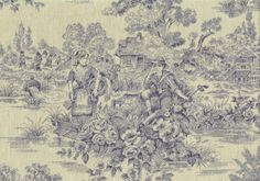 Waverly-Fabric-Lauren-Hancock-Woodland-Toile-Drapery-Upholstery