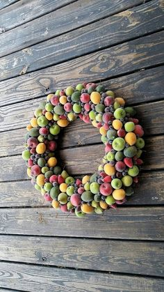 Christmas Wreath Sugared Fruit Wreath by DyJoDesigns on Etsy
