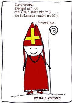 Sinterklaas is blij met jou (Vitale) Vrouw.