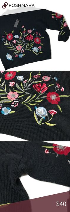 """romeo & juliet • nwt floral sweater new with tag 