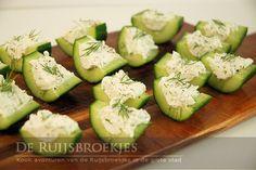 Komkommer & feta hapje