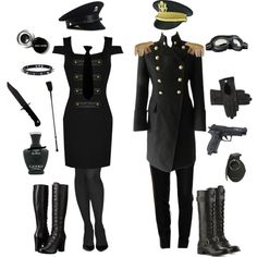 Military Goth Couple by conquistadorofsorts on Polyvore