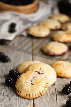 Tart, deep, dark blackberries pair perfectly with creamy mascarpone in these little individual blackberry mascarpone hand pies. Funnel Cakes, Hand Pies, Biscotti, Dessert Crepes, Mousse, Brownie, Cupcakes, Pie Recipes, Family Recipes