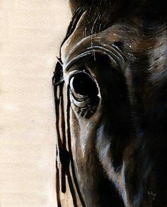 Thoroughbred Art Horse Equestrian Print of my by rachelsstudio - Devon's Portrait