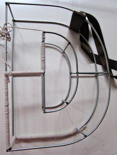 String Monogram Letter Tutorial