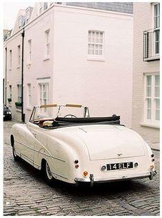 vintage Bentley convertible car