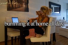haha that was me today. I didn't get dressed or put makeup on. I ate, slept, watched tv, and was on Pinterest lol