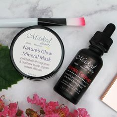 Easy 2 step skincare routine that will keep your skin healthy, nourished and youthful. Hyaluronic Serum, Glow Mask, 2 Step, Uneven Skin Tone, Skincare Routine, Coffee Bottle, Pomegranate, Aloe Vera, Healthy Skin