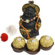 Buddha and Rakhi Gift hmaper