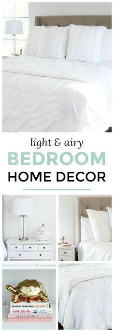 Bright and airy white bedroom home decor + How to create a hotel quality bed at home | All white blogger bedroom tour | Orlando, Florida lifestyle blogger Ashley Brooke Nicholas | fall decor | affordable home decor | holiday decor | shabby chic decor | feminine style | feminine decor | blogger home tour | blogger bedroom | white bedroom | light and airy decor | white home decor #shabbychicdecorbedroom