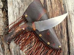 A curved hunting knife.